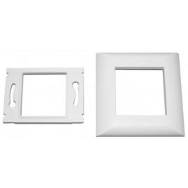 Enjoliveur 80x80 blanc pour plastron 45x45