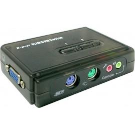 Switch KVM 2 ports PS2 avec audio