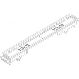 Porte étiquette sans emprise sur le rail - épaisseur (DA) 16