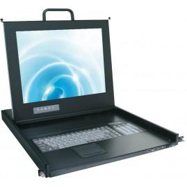 Console LCD KVM : écran 17''/clavier/souris tactile