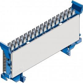 Module CAD à coupure 8 paires double fourche Y - bleu