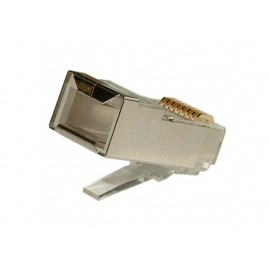 Connecteur plug RJ45 8P8C - Cat5E - plat - blindé