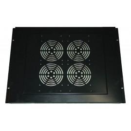 Support de toit 4 ventilateurs pour baies prof. 600 et 800 - Gris