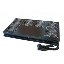 Support de toit 6 ventilateurs pour baies serveurs prof. 1000 et 1200 - Noir