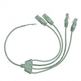 Cordon Y dénudé / 4xRJ45 - Cat5E 1P UTP câblé 4-5 - longueur 40cm