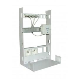 Coffret de communication métal Grade1 encastrable - 4 RJ45 Cat5E