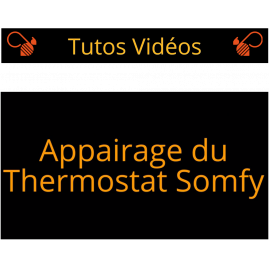 Appairage thermostat somfy io