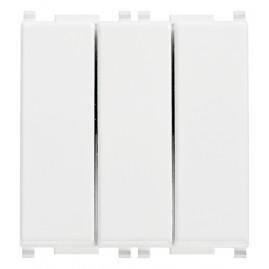 Trois interrupteurs 1P 20AX blanc