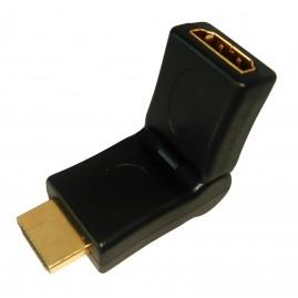 Adaptateur HDMI mâle/femelle articulé 360°