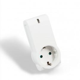 Prise plug 16A schuko - mesure conso intégrée - blanc