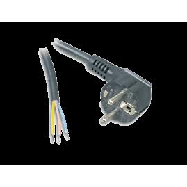 Cordon d'alimentation 2P+T dégainé - HO3VV-F rond 3G1 noir - 3m