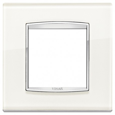 Plaque Eikon Classic 2M Glass blanc ice