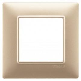 Plaque Plana 2M techn. champagne mat
