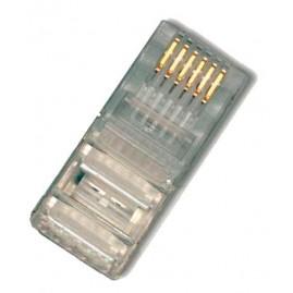 Connecteur plug RJ12 6P6C - rond