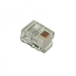 Connecteur plug RJ11 6P4C - rond