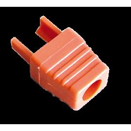 Manchon surmoulé pour connecteur RJ45 - orange