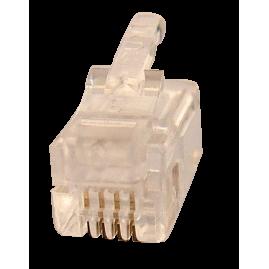 Connecteur plug RJ9 4P4C - rond