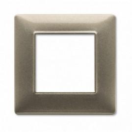 Plaque simple Plana - bronze métallisé