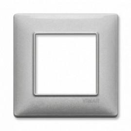 Plaque simple Plana - argent métallisé