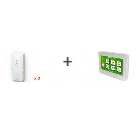 Kit chauffage - 2 récepteurs fil pilote + 1 thermostat Majordome