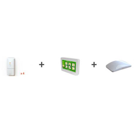 Kit chauffage - 4 récepteurs fil pilote + 1 thermostat Majordome + 1 mini box Ubiwizz