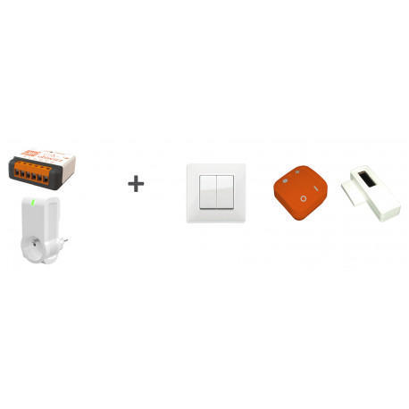 Kit découverte - 1 UBID1507C-QM + 1 UBID1501 + 1 VITA1002 + 1 Ubi'remote orange + 1 UBID1503-QM