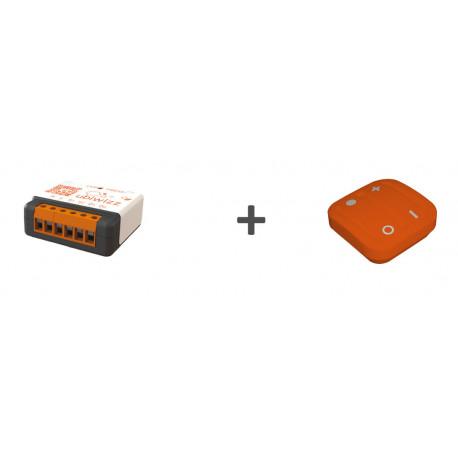 Kit confort - 1 UBID1507C-QM + 1 Ubi'remote orange