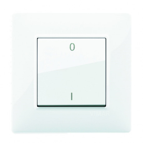 Interrupteur Plana simple I/O - blanc