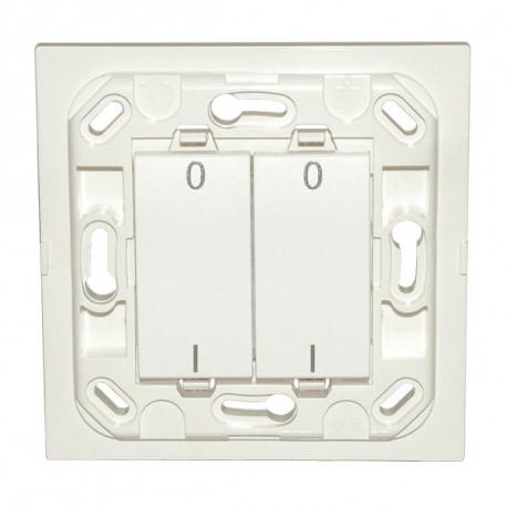 Interrupteur Eikon double I/O - blanc - sans plaque