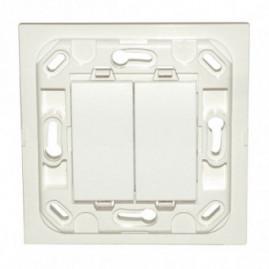Interrupteur Eikon double - blanc - sans plaque
