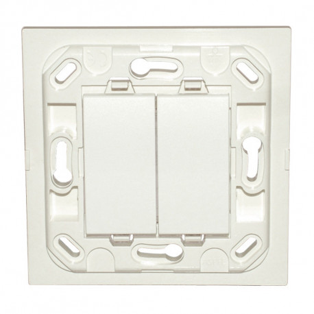 Interrupteur Eikon double - blanc - sans plaque