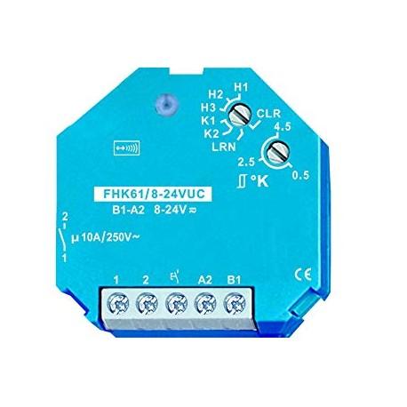 Actionneur radio relais temporisé multifonction, encastrable