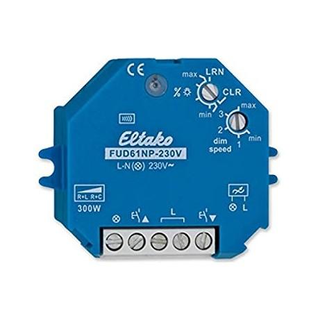 Actionneur radio, variateur R, L, C, sans neutre, encastrable