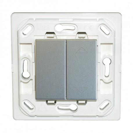 Interrupteur Plana double Eclairage / volet roulant - silver - sans plaque
