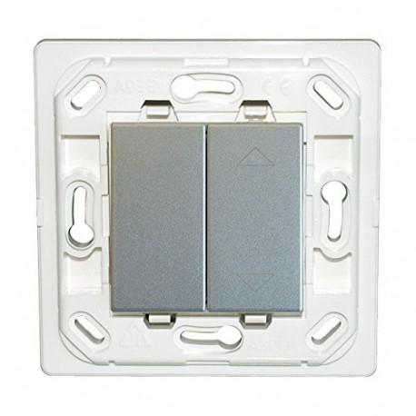 Interrupteur Plana double volet roulant - silver - sans plaque