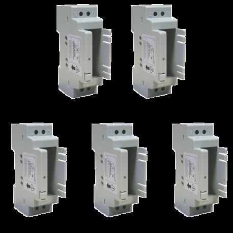 Boîtier Rail Din pour module connecté 5 pièces